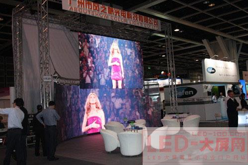 风之帆LED全彩动态显示屏闪亮香港InfoComm