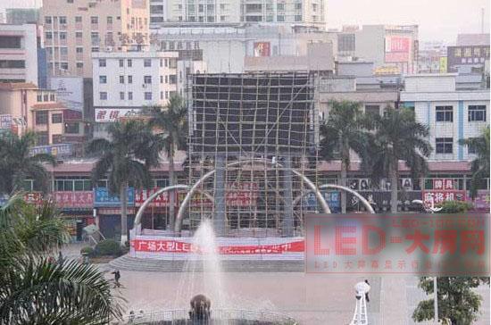 黄江镇最大LED屏幕将亮相黄江广场