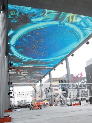 空中LED超级大屏幕国庆将闪耀南京