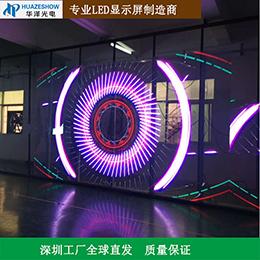 华泽光电P3.91-7.81透明LED屏商店橱窗玻璃幕墙4S店首选